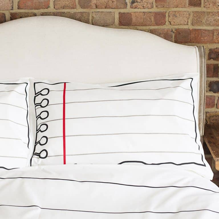 Eat Sleep Doodle Doodle Cotton Pillowcase With Wash-Out Fabric Markers Cool Cover for your Pillows