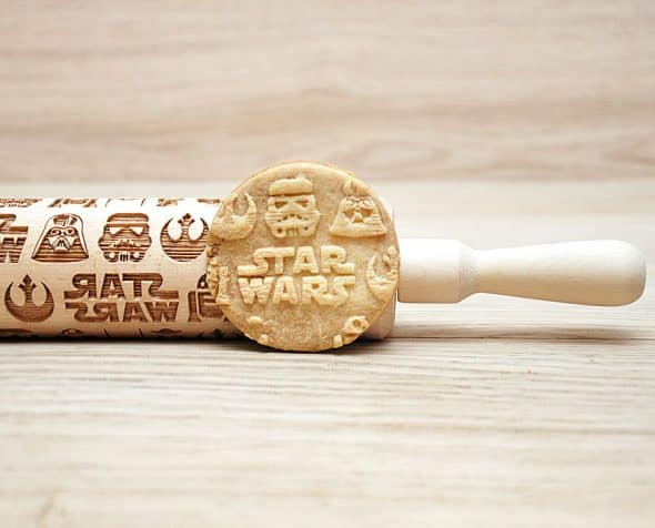 Favourite Cookies Star Wars Engraved Rolling Pin Great Online Shopping