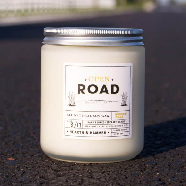 Hearth & Hammer Open Road Literary Candle  Good for Travelers