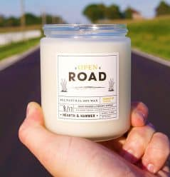 Light up the candle and smell the open road.