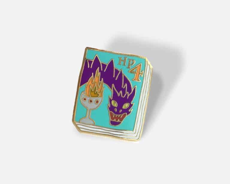 Ideal Bookshelf Harry Potter Book Badge Pin Volume 4