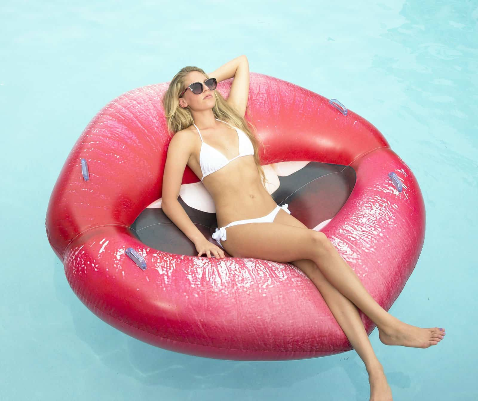 Luscious Lips Inflatable Swimming Pool Lounger Summer Novelty Product