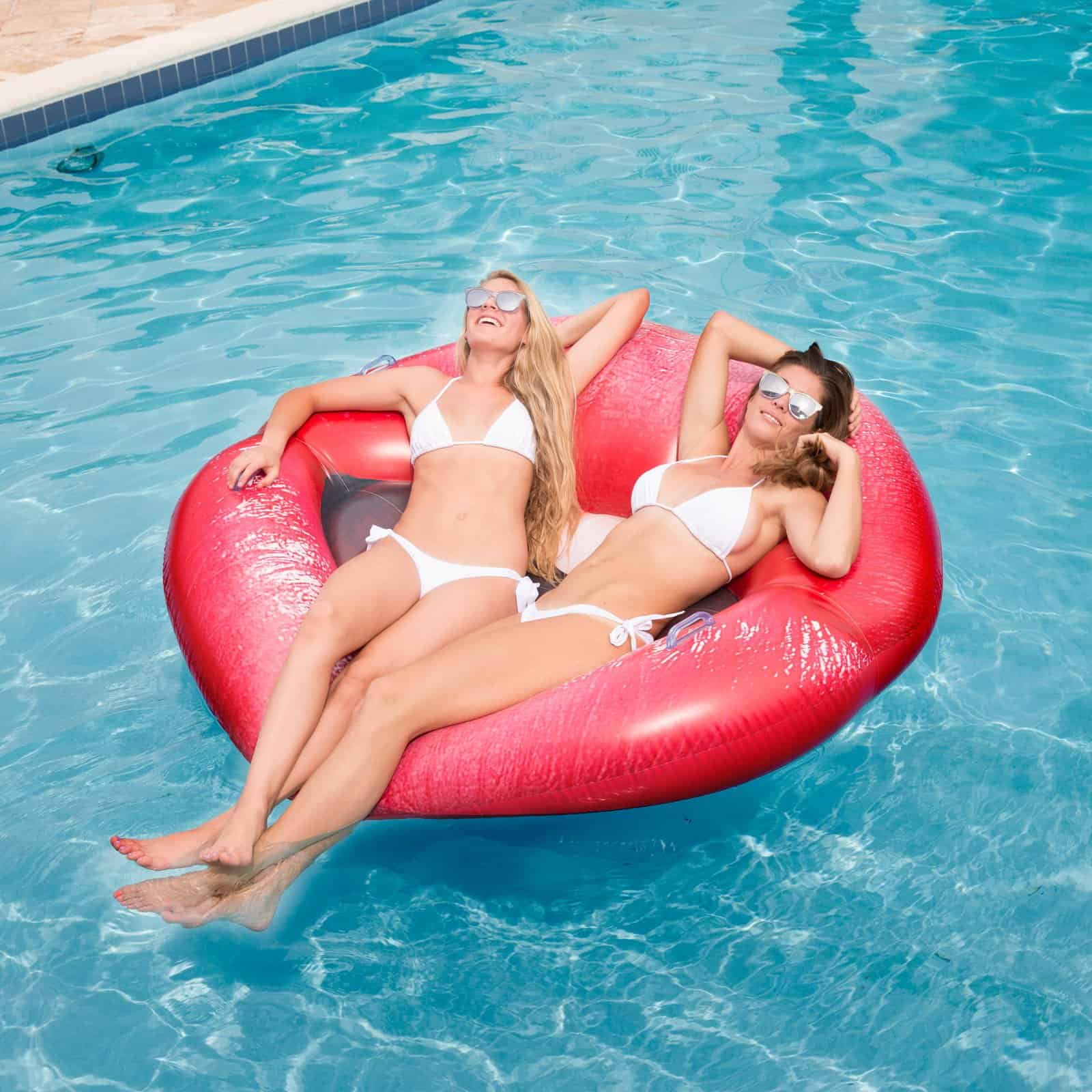 Luscious Lips Inflatable Swimming Pool Lounger Women Summer Must Have