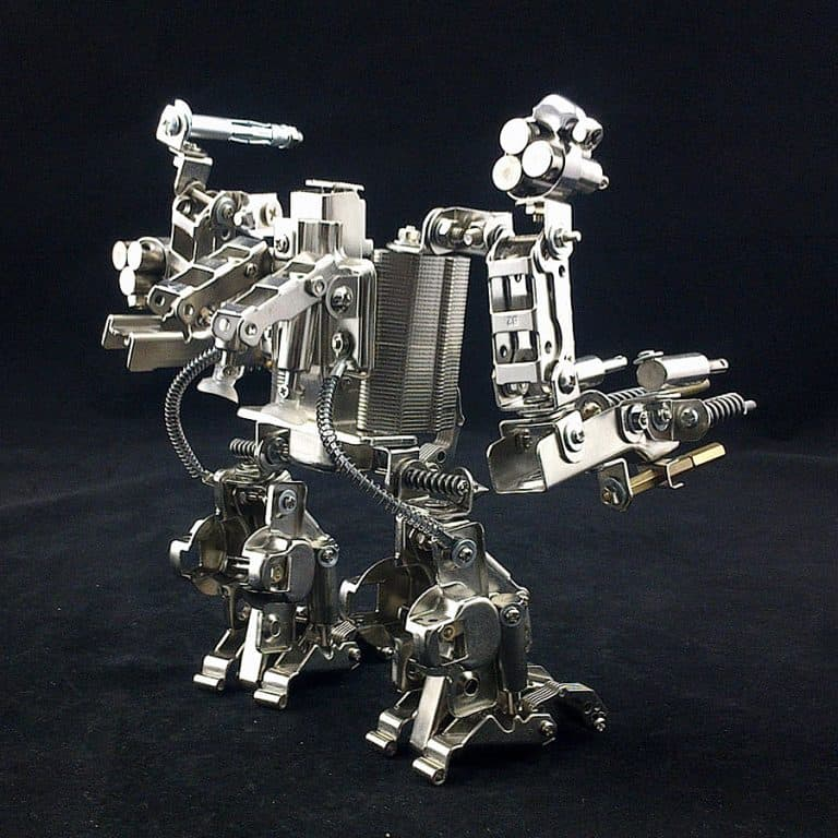 Mech World Metal Robot Cellphone Holder Awesome Novelty Item