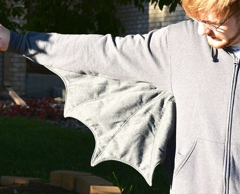 Melgarita XXL Bat Wing Sweatshirt Holloween Costume