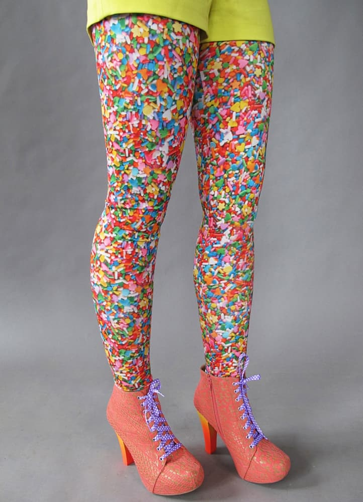 Pretty Snake Sprinkles Leggings Nice Stretchy Fabric