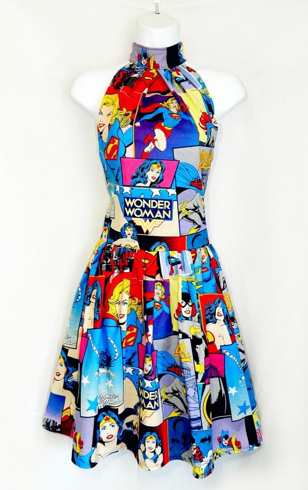 Rebecca's Dorky Designs Dc Comics Superhero Dress Cool Clothes