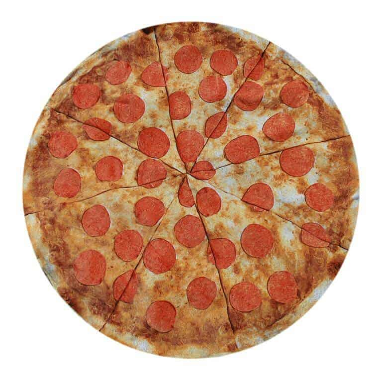 Round Towel Co Pepperoni Pizza Beach Towel Cool Novelty Item