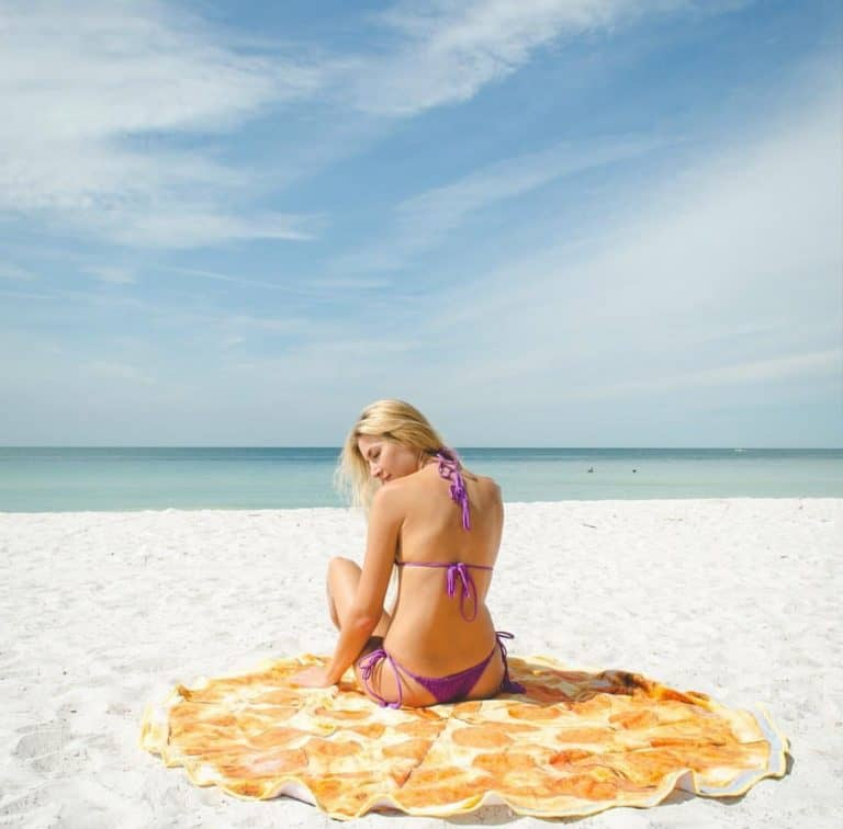Round Towel Co Pepperoni Pizza Beach Towel Summer Must Have