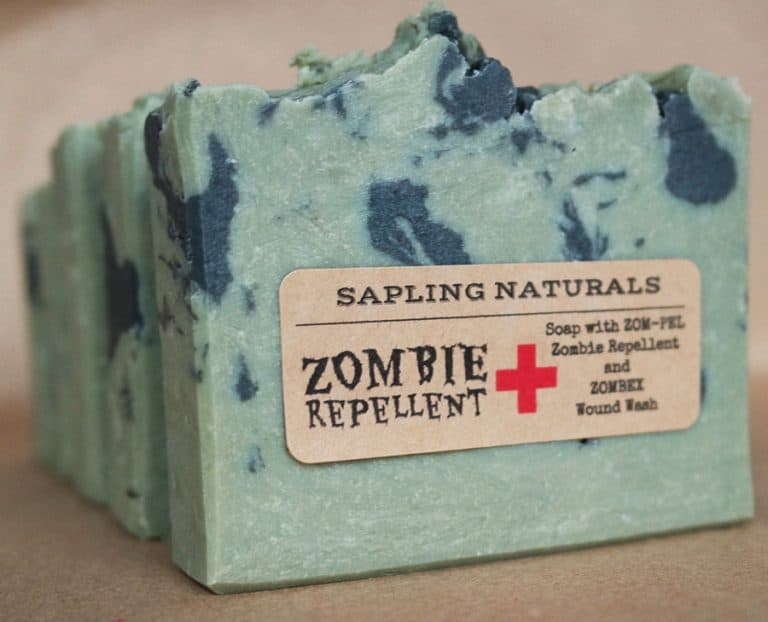 Sapling Naturals Zombie Repellent Soap Awesome Cleaning Material