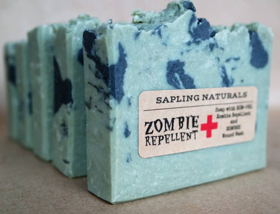 Sapling Naturals Zombie Repellent Soap Good for Hygiene