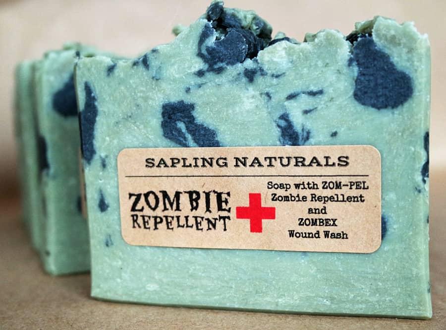 Sapling Naturals Zombie Repellent Soap Great Gift for Men
