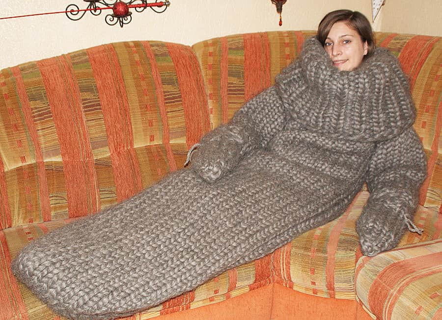 Strickolino Knitted Turtleneck Sleeping Bag Novelty Item