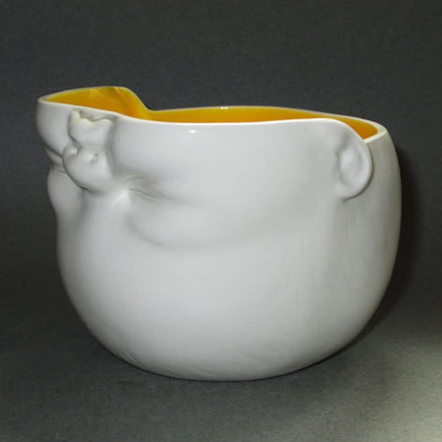 Susan Kniffin Davidson Upsidedown Baby Head Bowl Cool Dish
