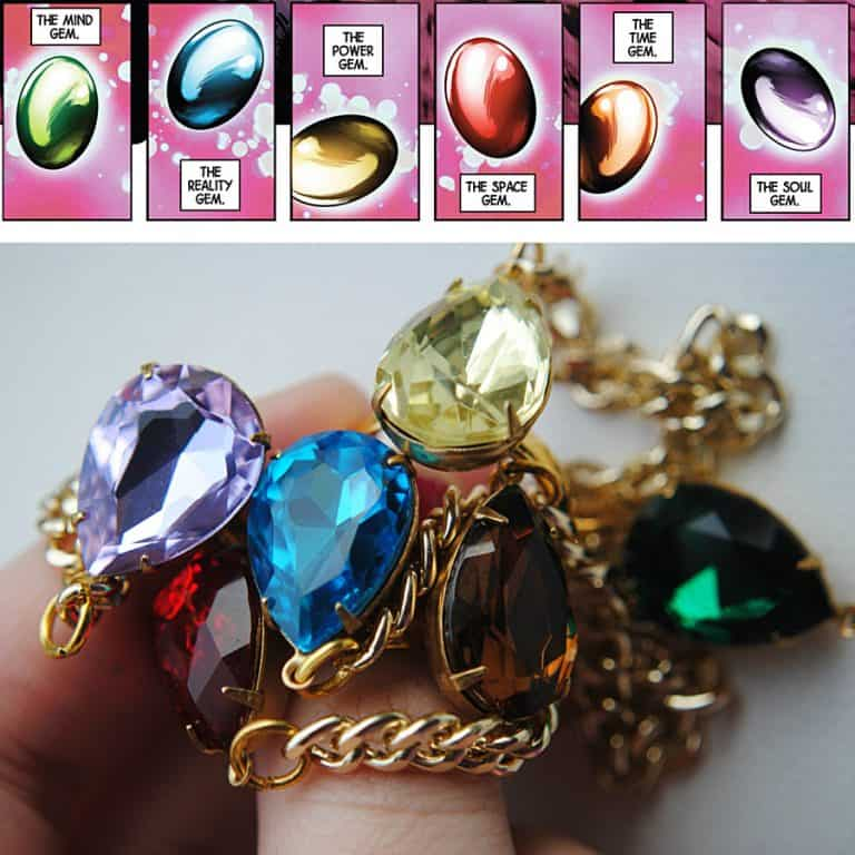 The Beee Hive Avengers Inspired Infinity Gauntlet Handchain Handmade Jewelry
