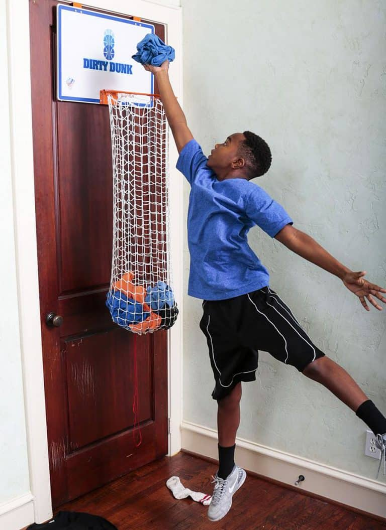 The Dunk Collection Dirty Dunk Over-the-Door Basketball Hoop Hamper Gift Idea