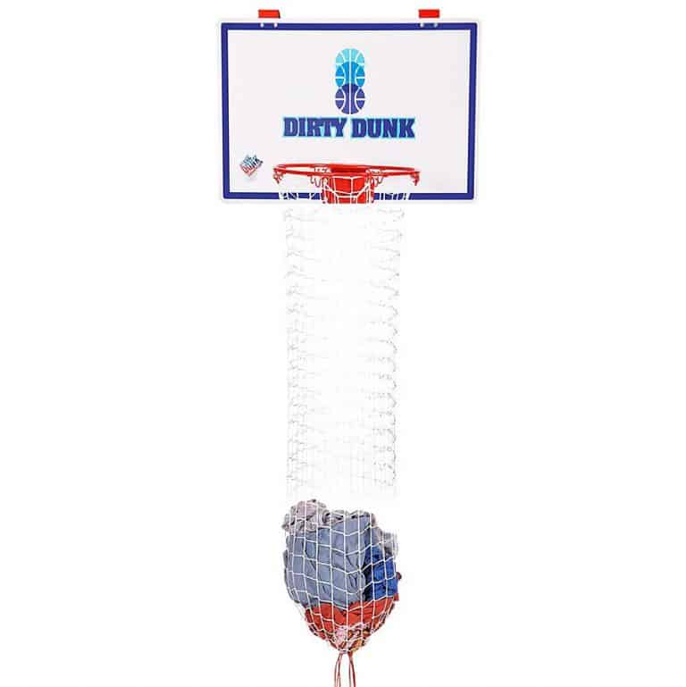 The Dunk Collection Dirty Dunk Over-the-Door Basketball Hoop Hamper Good for Kids