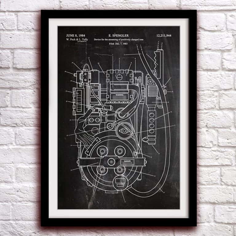 The Patent Office Ghostbusters Proton Pack Fantasy Art Patent  Great Deal Online