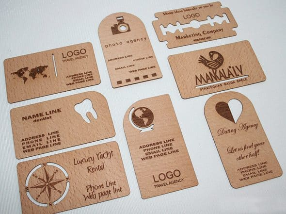 Wood Power Wooden Business Card Online Shopping