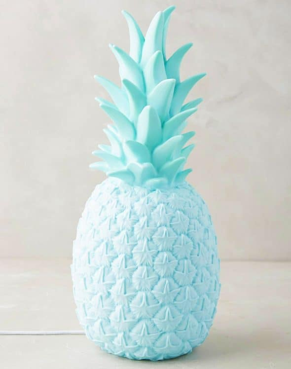 Anthropologie-Pineapple-Light-Trendy-Molded-Vinyl