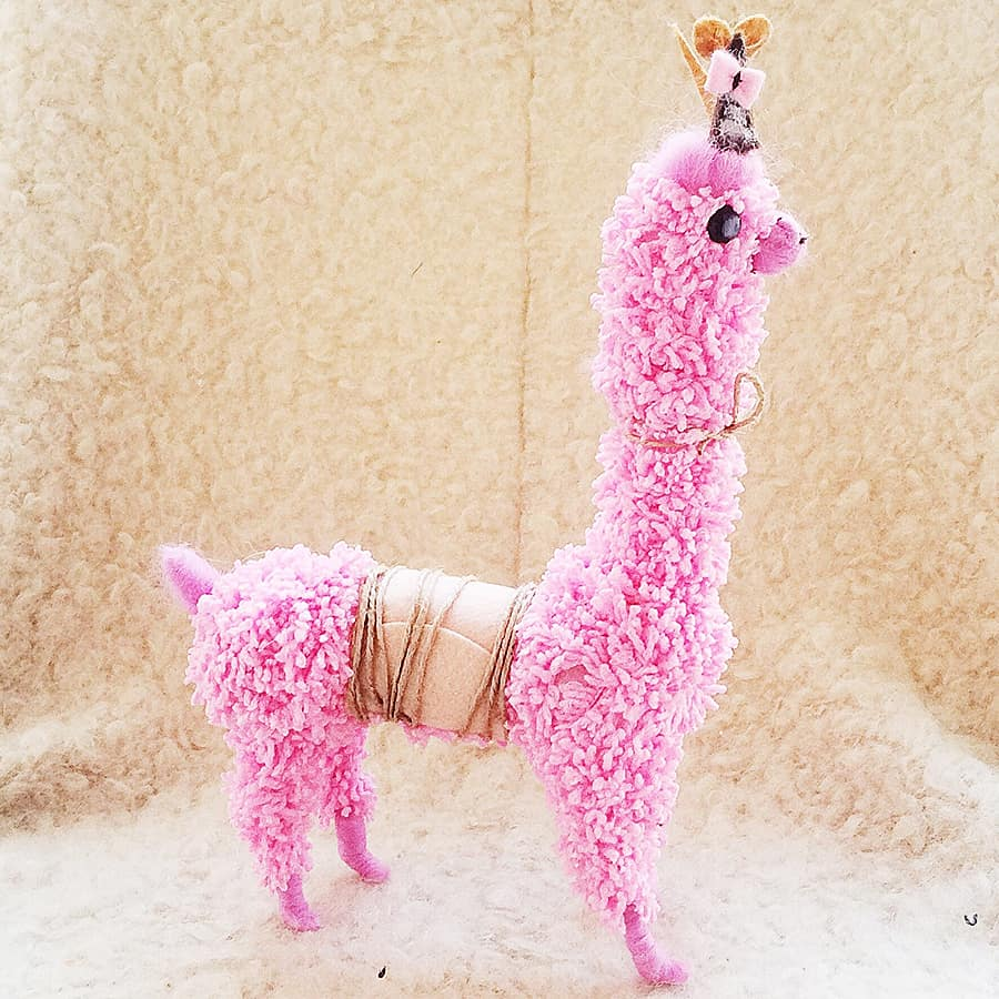 Soft fluffy pink llama, doesn't get any better than that.