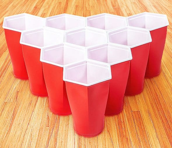 Play beer pong without the gaps.