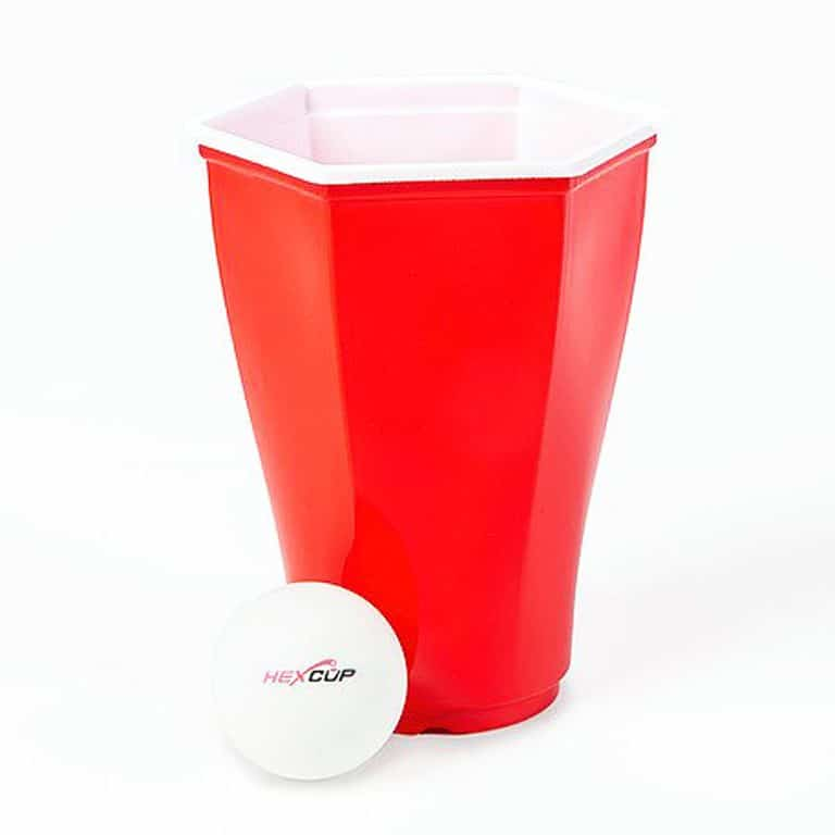 Hexcup Beer Pong Set Durable Polypropylene Construction