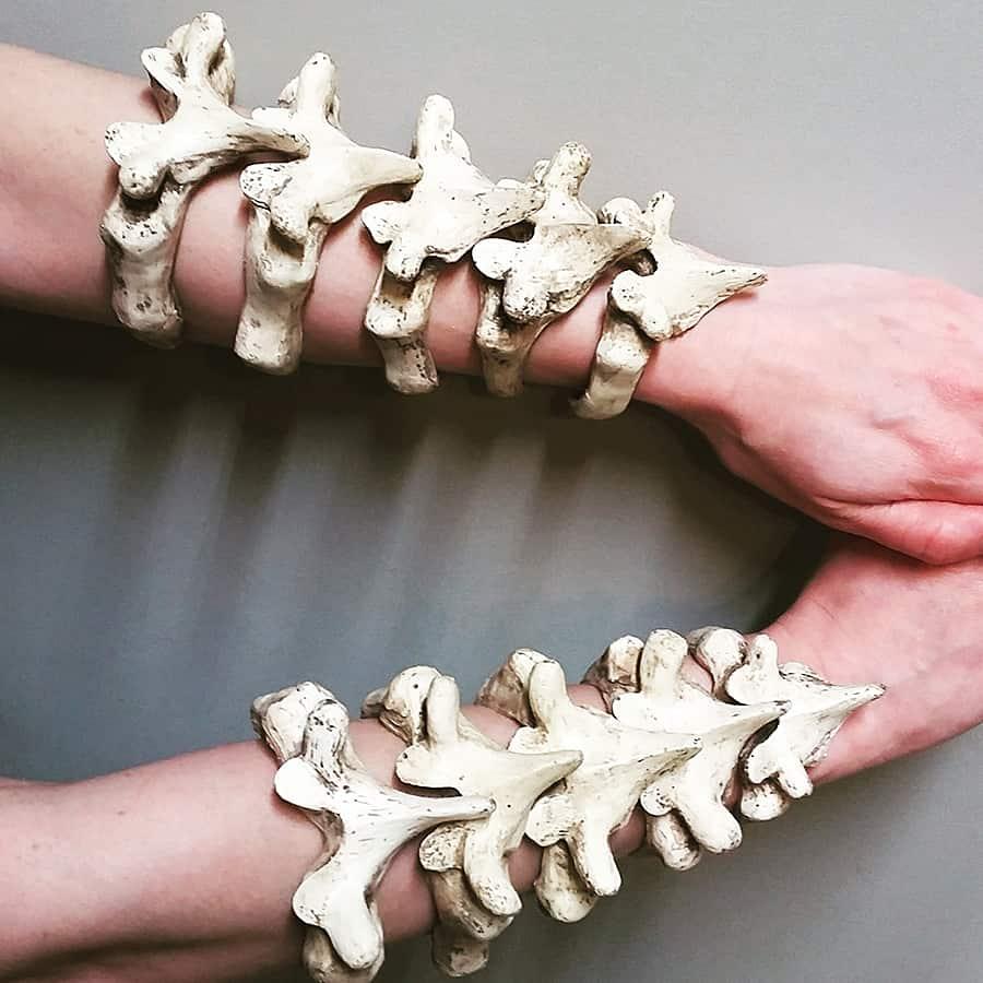 Wear the vertebrae of your fallen enemies.