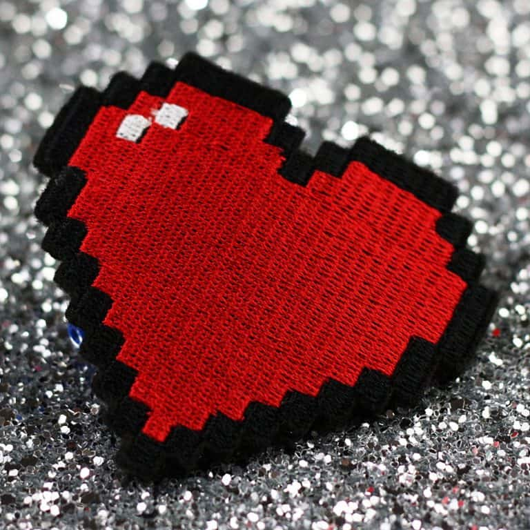Janine Basil Pixel Heart Hair Clip Made from Polyester Felt