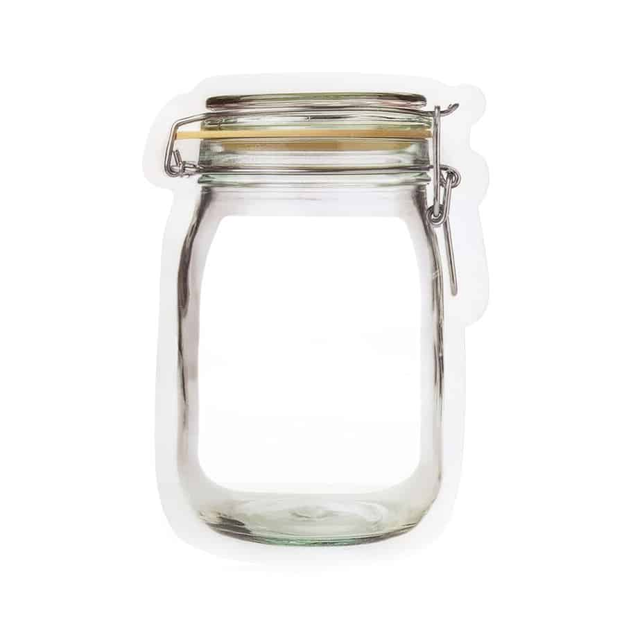 Kikkerland Zipper Bags Realistic Jar Look