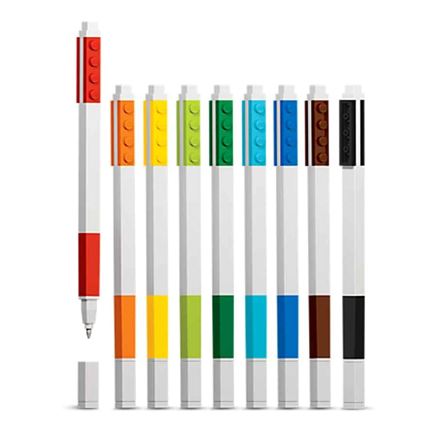 Lego Colored Gel Pens Pack Great for Lego Lovers