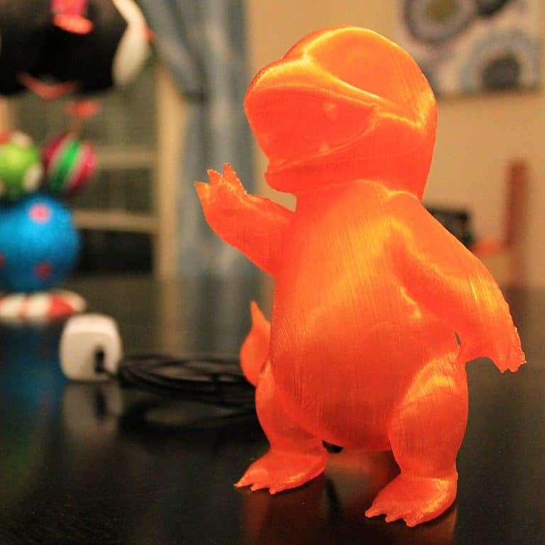 Marbled Works 3D Printed Charmander Lamp Desktop Lighting