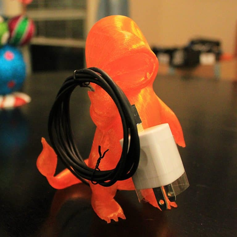 Marbled Works 3D Printed Charmander Lamp Electronics