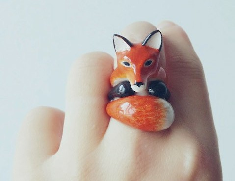 Mary-Lou-Bangkok-Orange-Fox-3-Piece-Ring-Set-Handmade-Unique-Jewelry