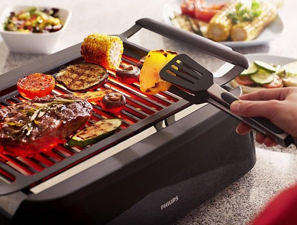 Philips Smoke-less Indoor Grill Cook Grilled Food Inside Your Home