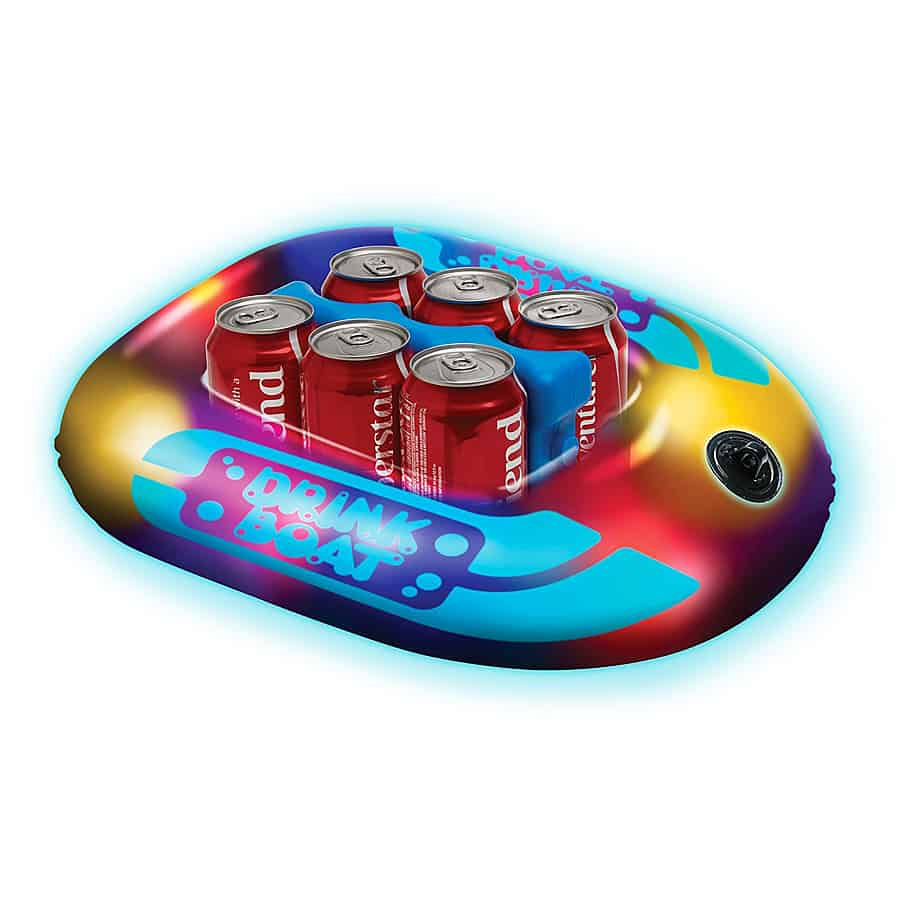 Pool Candy Illuminated Drink Boat Great for Six Pack