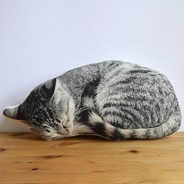 Shannon Broder Sleeping Cat Plush Pillow Home Shopping