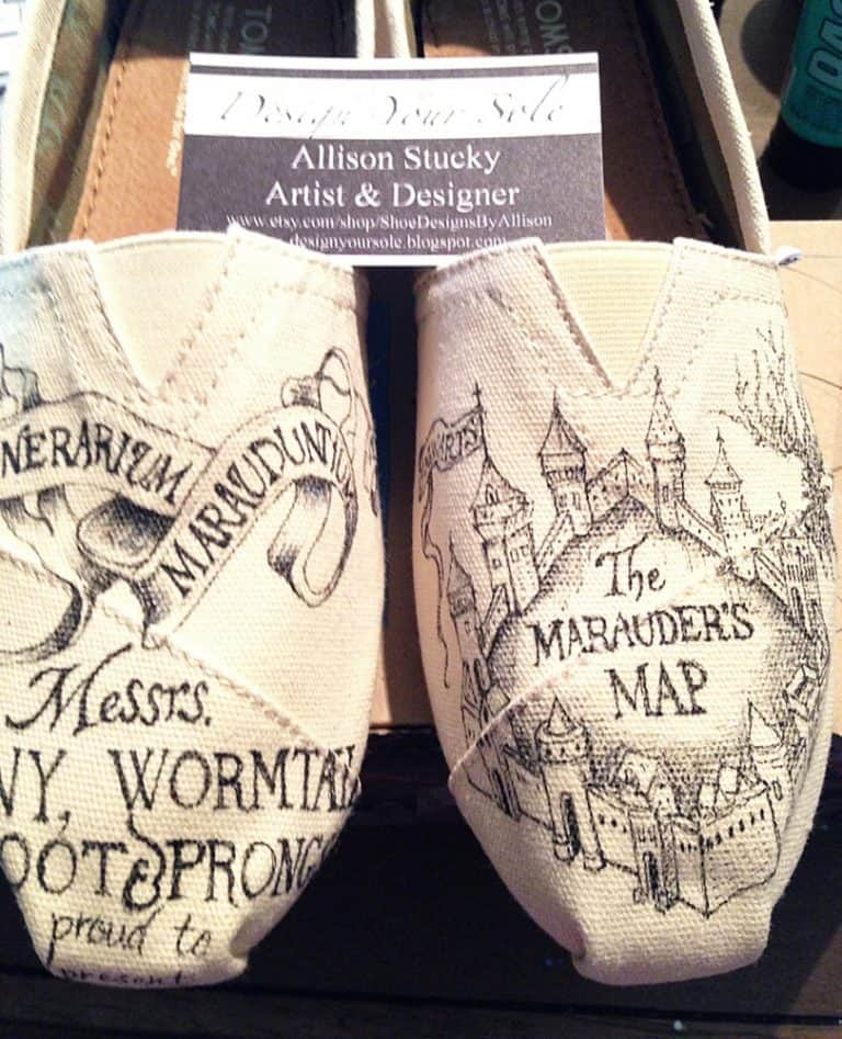 Shoe Designs By Allison Mischief Managed Toms Fashionable Shoes
