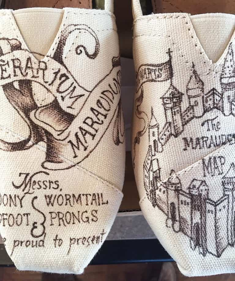 Shoe Designs By Allison Mischief Managed Toms Made to Order