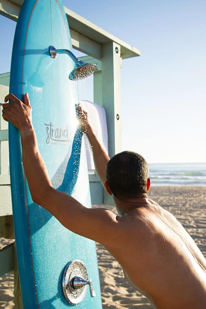 Strand Surfboard Shower Customizable Board