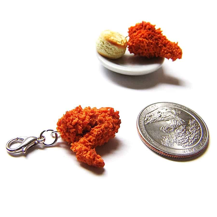 Sucre Sucre Miniatures Fried Chicken Wing Charm Handmade Item
