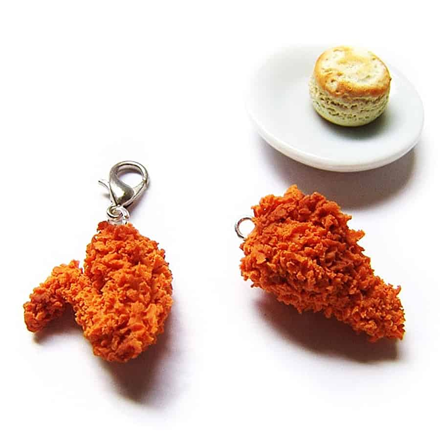 Sucre Sucre Miniatures Fried Chicken Wing Charm Nice Polymer Clay