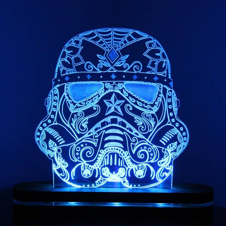Sugar Skull Stormtrooper Night Light Cool Desk lamp
