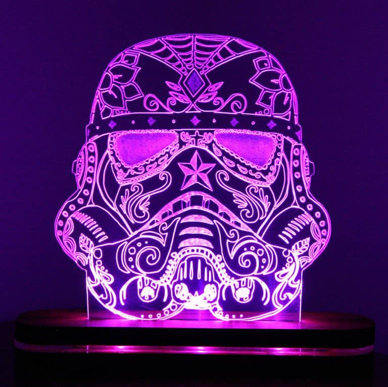 Sugar Skull Stormtrooper Night Light Great for Dimming your Room