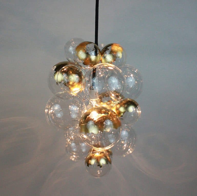 The Light Factory Waterfall Bubble Chandelier Cool House Decoration