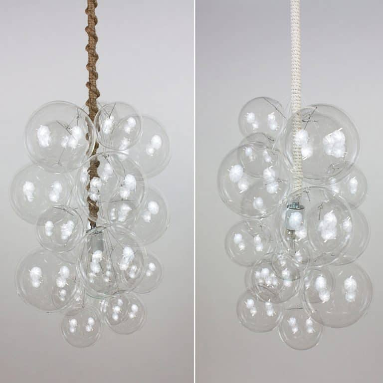 The Light Factory Waterfall Bubble Chandelier Hand Blown Glass