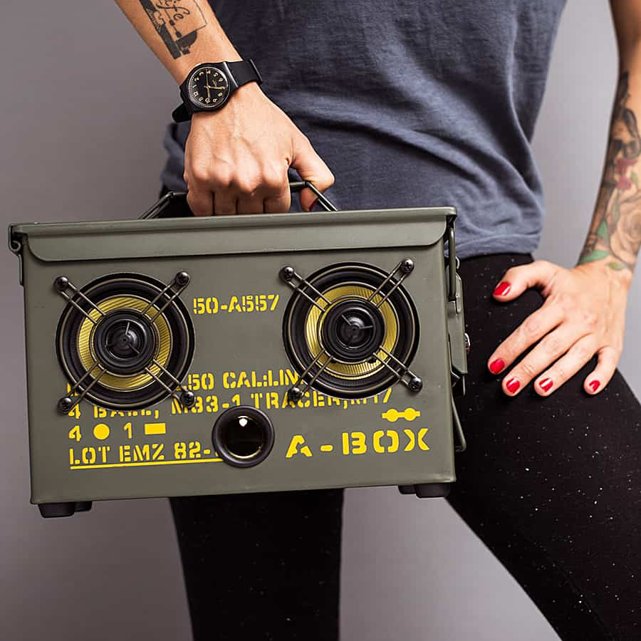 Thodio .50 Cal A-box The Original Ammo Can Boombox Easy to Carry Boombox