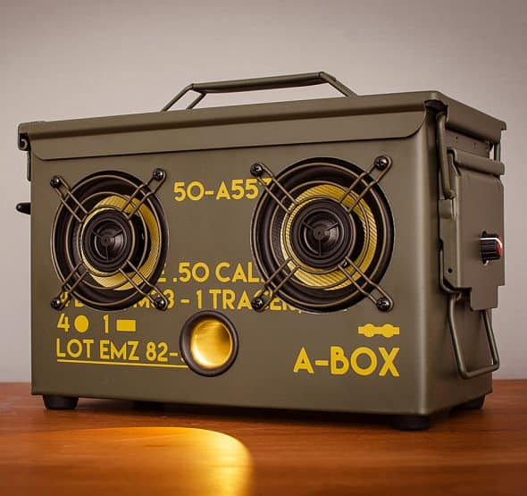 Thodio .50 Cal A-box The Original Ammo Can Boombox Electronics Shopping