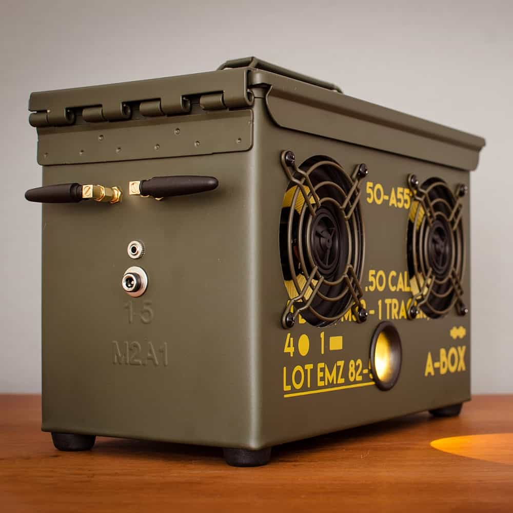 Thodio .50 Cal A-box The Original Ammo Can Boombox Handmade