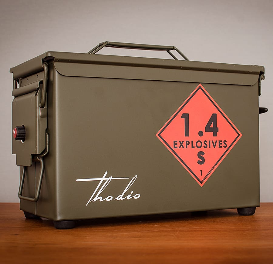 Thodio .50 Cal A-box The Original Ammo Can Boombox Novelty Item